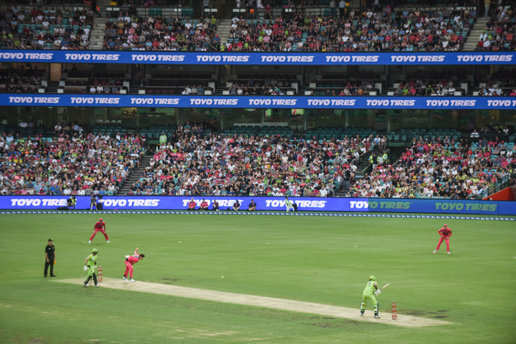 Toyo Tires Sponsor Big Bash League Cricket Team Sydney Sixers