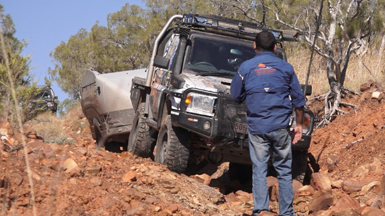 Penny-Wells-TODU-LandCruiser-Towing-Rocky-Track